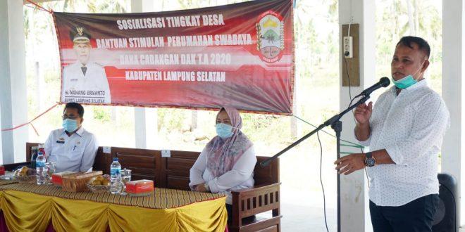 1.030 Rumah Tak Layak Huni di Lampung Selatan Terima Bantuan Stimulan Perumahan Swadaya