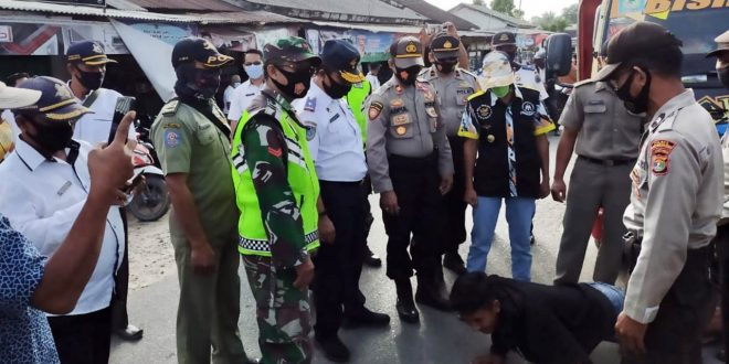 Pemkab Gelar Operasi Yustisi, Puluhan Warga Lampung Selatan Tak Pakai Masker Dapat Sanksi