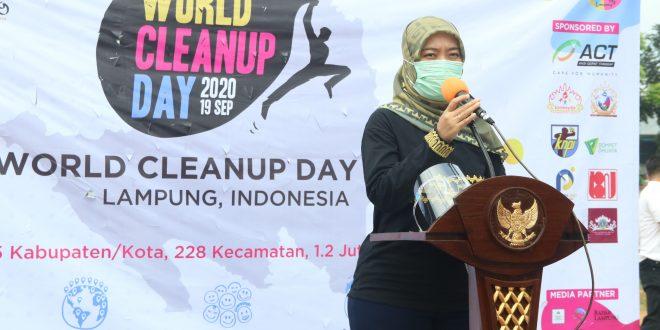 Bersih – bersih sampah, Wagub Chusnunia Peringati Puncak World Cleanup Day