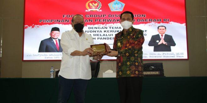 Rawat Kerukunan di Tengah Pandemi C-19 dan Pilkada, Pjs Gubernur Agus Fatoni Apresiasi FGD DPD-RI