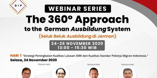 "Webinar Series ""The 360° Approach to the German Ausbildung System"