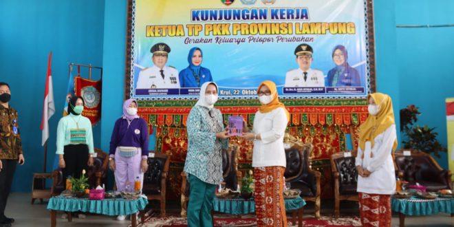 Ketua TP. PKK Provinsi Lampung Lakukan Pembinaan Organisasi di Kabupaten Pesisir Barat